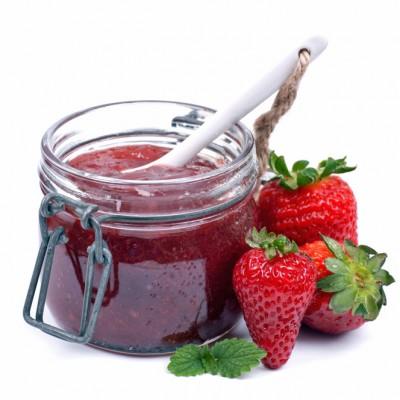 selbstgemachte Erdbeermarmelade